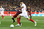 FC Barcelona's Andres Iniesta (L) and Sevilla CF's  Iborra (R)during Spanish Kings Cup Final match. May 22,2016. (ALTERPHOTOS/Rodrigo Jimenez)