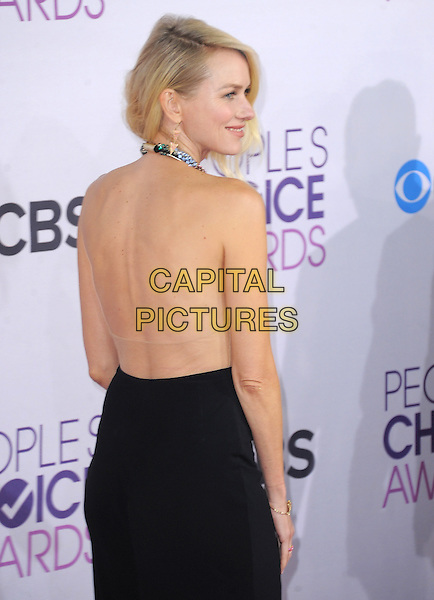 Naomi Watts.The 2013 People's Choice Awards held at Nokia Live in Los Angeles, California 9th January 2013                                                                   .half length gold sleeveless sequins sequined collar embellished jewel encrusted top skirt black side backless looking over shoulder halterneck .CAP/DVS.©DVS/Capital Pictures.