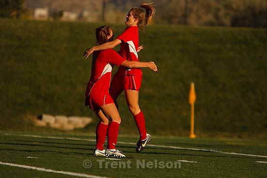 Sandy - 5A high school girls state soccer tournament. Alta vs. Timpanogos. Kealie Ohai.