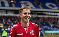 Bolton Wanderers' Matthew Alexander smiles at the end of the match<br /> <br /> Photographer Andrew Kearns/CameraSport<br /> <br /> The EFL Sky Bet Championship - Bolton Wanderers v Coventry City - Saturday 10th August 2019 - University of Bolton Stadium - Bolton<br /> <br /> World Copyright © 2019 CameraSport. All rights reserved. 43 Linden Ave. Countesthorpe. Leicester. England. LE8 5PG - Tel: +44 (0) 116 277 4147 - admin@camerasport.com - www.camerasport.com