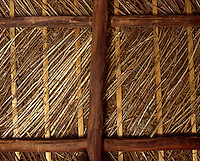 The underthatch is made of woven hazel with gorse insulation