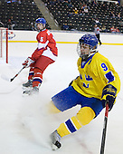 Jakub Jerabek  (Czech Republic - 15), Patrick Cehlin (Sweden - 9) - Sweden defeated the Czech Republic 4-2 at the Urban Plains Center in Fargo, North Dakota, on Saturday, April 18, 2009, in their final match of the 2009 World Under 18 Championship.