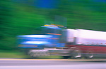 Speeding transport truck