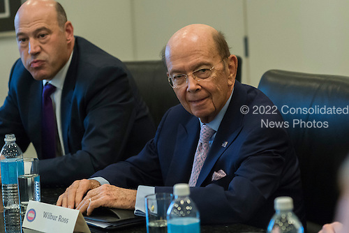 Wilbur Ross is seen in attendance at a meeting of technology chiefs in the Trump Organization conference room at Trump Tower in New York, NY, USA on December 14, 2016. <br /> Credit: Albin Lohr-Jones / Pool via CNP