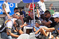 SAO PAULO, SP, 12 FEVEREIRO 2013 - CARNAVAL SP - APURAÇÃO -  Presidentes e diretores da Gaviões da Fiel durante apuração dos votos das escolas de Samba do Grupo Especia no Sambódromo do Anhembi na região norte da capital paulista, nesta terça, 12. FOTO: LEVI BIANCO - BRAZIL PHOTO PRESS
