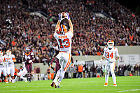 Blacksburg, VA - SEPT 30, 2017: Clemson Tigers wide receiver Hunter Renfrow (13) catches a pass early in the first half to set up Clemson's first score of the game during match up against Virginia Tech at Lane Stadium/Worsham Field Blacksburg, VA. (Photo by Phil Peters/Media Images International)