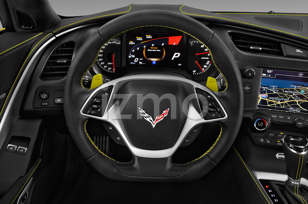 Car pictures of steering wheel view of a 2017 Chevrolet Corvette Grand-Sport-3LT 2 Door Convertible Steering Wheel