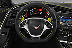 Car pictures of steering wheel view of a 2018 Chevrolet Corvette Grand-Sport-3LT 2 Door Convertible Steering Wheel