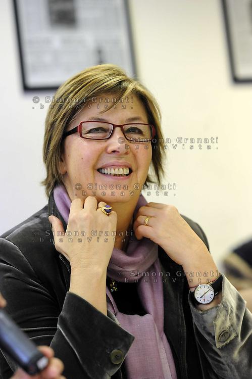 Roma, 22 Febbraio 2010.Mercedes Bresso governatirce regione Piemonte.nella redazione del quotidiano L'unità
