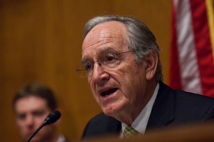 WASHINGTON, DC - April 27: Chairman Tom Harkin, D-Iowa, during the Senate Health, Education, Labor and Pensions Committee hearing on mine safety, and safety in other workplaces, in the wake of the disaster at Upper Big Branch mine in Montcoal, W.Va., that killed 29 workers this month. Saying that no one should die for a paycheck, the new head of the Mine Safety and Health Administration asked lawmakers Tuesday for additional authority to go after scofflaw mine owners, even as he vowed tougher enforcement under existing law. (Photo by Scott J. Ferrell/Congressional Quarterly)