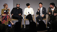 NEW YORK, NY November 09:Alison Sudol, Dan Fogler, Katherine Waterston, Eddie Redmayne, Ezra Miller  at Apple presents Meet the Cast of Fantastic Beasts and Where to Find Them at Apple Soho  in New York .November 09, 2016. Credit:RW/MediaPunch