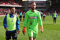 Bolton Wanderers' Ben Alnwick at the end of todays match<br /> <br /> Photographer Rachel Holborn/CameraSport<br /> <br /> The EFL Sky Bet Championship - Barnsley v Bolton Wanderers - Saturday 14th April 2018 - Oakwell - Barnsley<br /> <br /> World Copyright &copy; 2018 CameraSport. All rights reserved. 43 Linden Ave. Countesthorpe. Leicester. England. LE8 5PG - Tel: +44 (0) 116 277 4147 - admin@camerasport.com - www.camerasport.com