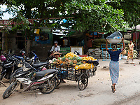 The open market in Mandalay, Myanmar