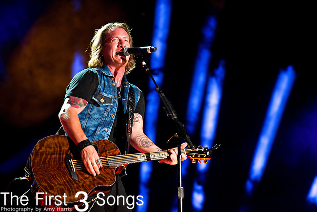 Tyler Hubbard of Florida Georgia Line performs at LP Field during Day 3 of the 2013 CMA Music Festival in Nashville, Tennessee.