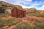 The Elijah Cutler Behunin Cabin in Capitol Reef National Park, 1883-84, Utah, USA