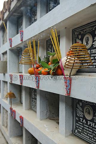 Asia, Vietnam, Nha Trang. Long Son Pagoda. Tombs.