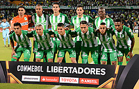 MEDELLIN - COLOMBIA, 24-04-2018: Los jugadores de Atlético Nacional, posan para una foto, durante partido de la de la fase de grupos, grupo B, fecha 4, entre Atlético Nacional y Bolívar (BOL), por la Copa Conmebol Libertadores 2018, en el Estadio Atanasio Girardot, de la ciudad de Medellin. / The players Atletico Nacional, pose for a photo, during a match for the group stage, group B of the 4th date, between Atletico Nacional (COL) and Bolivar (BOL), for the Conmebol Libertadores Cup 2018, at the Atanasio Girardot, Stadium, in Medellin city. Photo: VizzorImage / Leon Monsalve / Cont.