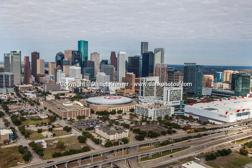 Aerial photo of Houston on Dec. 9, 2016.