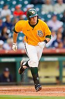 Max Muncy #9 of the Baylor Bears hustles down the first base line against the Rice Owls at Minute Maid Park on March 6, 2011 in Houston, Texas.  Photo by Brian Westerholt / Four Seam Images