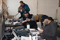 Race Officials Work Logistics @ McGrath Chkpt 2005 Iditarod
