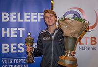 Wateringen, The Netherlands, December 8,  2019, De Rhijenhof , NOJK juniors 14 and18 years, Finals 18 years: Winner boys 18 years Guy den Ouden (NED)<br /> Photo: www.tennisimages.com/Henk Koster