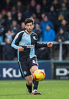 Joe Jacobson of Wycombe Wanderers in action during the Sky Bet League 2 match between Wycombe Wanderers and Luton Town at Adams Park, High Wycombe, England on 6 February 2016. Photo by Andy Rowland.