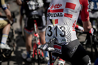 non-supersticious #13 rider Stan Dewulf (BEL/Lotto-Soudal) ahead of the race start<br /> <br /> Belgian National Road Championships 2019 - Gent<br /> <br /> ©kramon