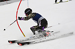 FRANCONIA, NH - MARCH 10: A member of the Montana State men's ski team participates in the men's slalom at the Division I Men's and Women's NCAA Skiing Championships held at Jackson Ski Touring on March 10, 2017 in Jackson, New Hampshire. (Photo by Gil Talbot/NCAA Photos via Getty Images)