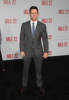 "WESTWOOD, CA - AUGUST 9: Mark Wahlberg, at Premiere Of STX Films' ""Mile 22"" at The Regency Village Theatre in Westwood, California on August 9, 2018. Credit: Faye Sadou/MediaPunch"