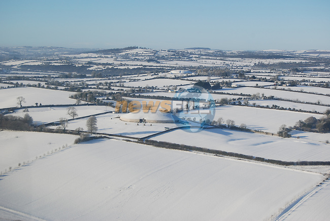 Aerial Pictures from Co Louth during the snow in december.Picture Richard Smith /www.newsfile.ie.