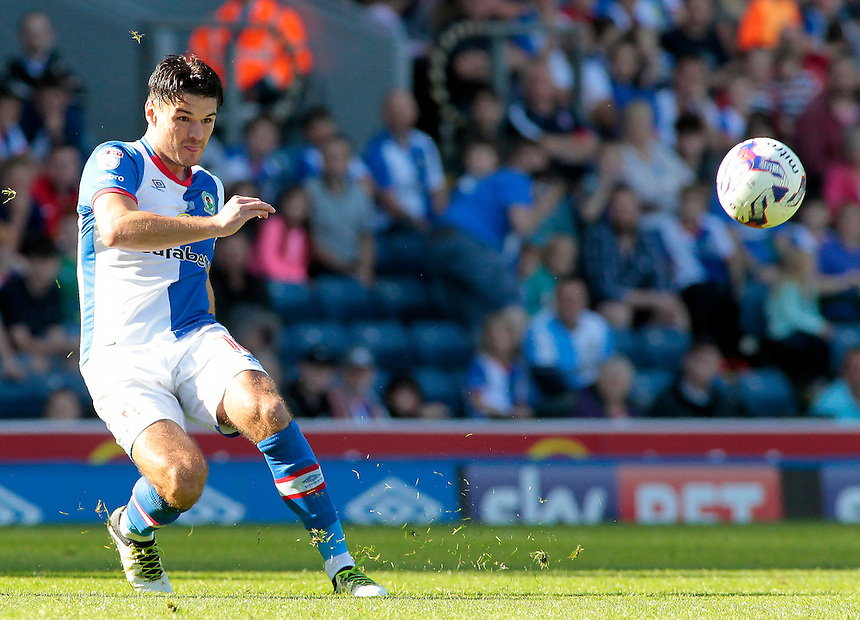 Blackburn Rovers' Ben Marshall in action during todays match  <br /> <br /> Photographer David Shipman/CameraSport<br /> <br /> The EFL Sky Bet Championship - Blackburn Rovers v Rotherham United - Saturday 17 September 2016 - Ewood Park - Blackburn<br /> <br /> World Copyright &copy; 2016 CameraSport. All rights reserved. 43 Linden Ave. Countesthorpe. Leicester. England. LE8 5PG - Tel: +44 (0) 116 277 4147 - admin@camerasport.com - www.camerasport.com