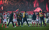 7th December 2017, Rajko Mitic Stadium, Belgrade, Serbia, UEFA Europa League football, Red Star Belgrade versus FC Cologne; The players of Red Star Belgrade celebrate the victory