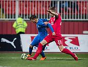 27th March 2018, Karadjorde Stadium, Novi Sad, Serbia; Under 21 International Football Friendly, Serbia U21 versus Italy U21; Midfielder Nicolo Barella of Italy in action against Uros Racic of Serbia