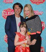 "16 July 2016 - Beverly Hills, California. Lou Diamond Phillips, Yvonne Boismier Phillips. Arrivals for the Los Angeles VIP screening for Disney's ""Elena of Avalor"" held at Paley Center for Media. Photo Credit: Birdie Thompson/AdMedia"
