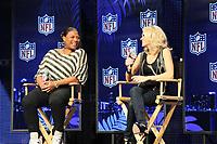 Queen Latifah und Carrie Underwood<br /> Entertainment Pressekonferenzen, Super Bowl XLIV Pressekonferenzen *** Local Caption *** Foto ist honorarpflichtig! zzgl. gesetzl. MwSt. Auf Anfrage in hoeherer Qualitaet/Aufloesung. Belegexemplar an: Marc Schueler, Alte Weinstrasse 1, 61352 Bad Homburg, Tel. +49 (0) 151 11 65 49 88, www.gameday-mediaservices.de. Email: marc.schueler@gameday-mediaservices.de, Bankverbindung: Volksbank Bergstrasse, Kto.: 52137306, BLZ: 50890000