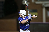 Joe Johnson (15) of the High Point Panthers at bat against the NJIT Highlanders during game two of a double-header at Williard Stadium on February 18, 2017 in High Point, North Carolina.  The Highlanders defeated the Panthers 4-2.  (Brian Westerholt/Four Seam Images)