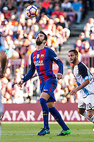 FC Barcelona's Gerard Pique during the La Liga match between Futbol Club Barcelona and Deportivo de la Coruna at Camp Nou Stadium Spain. October 15, 2016. (ALTERPHOTOS/Rodrigo Jimenez) NORTEPHOTO.COM