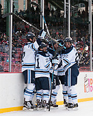 Mark Hamilton (Maine - 47), Cam Brown (Maine - 21), Brendan Robbins (Maine - 22) - The University of Maine Black Bears defeated the University of Connecticut Huskies 4-0 at Fenway Park on Saturday, January 14, 2017, in Boston, Massachusetts.