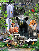 Howard, REALISTIC ANIMALS, REALISTISCHE TIERE, ANIMALES REALISTICOS, paintings+++++,GBHRPROV140V,#a#, EVERYDAY ,National Parks ,puzzles