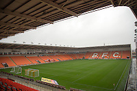 A rainy Bloomfield Road during the Sky Bet League 2 match between Blackpool and Wycombe Wanderers at Bloomfield Road, Blackpool, England on 20 August 2016. Photo by James Williamson / PRiME Media Images.