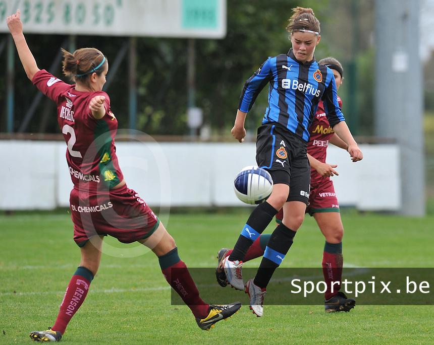 Club Brugge Dames - Dames Zulte Waregem : Charlotte Laridon.foto DAVID CATRY / Vrouwenteam.be