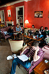 Washington DC: People at Tryst restaurant.  Photo copyright Lee Foster.  Photo # washdc102812