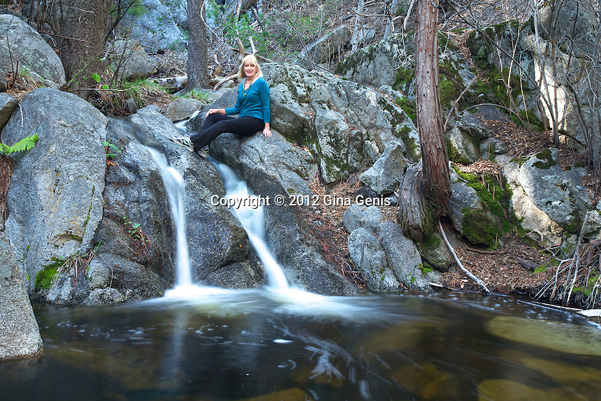 Marcia Holzman Cox in Marian Creek, Idyllwild
