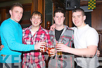 HAPPY: Sean Mccarthy,Brian Fitzgerald,Daniel Feury and Johnny Liddane,Tralee who had a ball in The Abbey Inn Tralee as they brought in the New Year,on Friday night...... . ............................... ..........