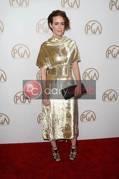 Sarah Paulson<br /> at the 2017 Producers Guild Awards, Beverly Hilton Hotel, Beverly Hills, CA 01-28-17<br /> David Edwards/DailyCeleb.com 818-249-4998