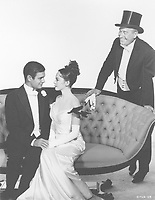 Gigi (1958) <br /> Promo shot of Leslie Caron, Louis Jourdan &amp; Maurice Chevalier<br /> *Filmstill - Editorial Use Only*<br /> CAP/MFS<br /> Image supplied by Capital Pictures