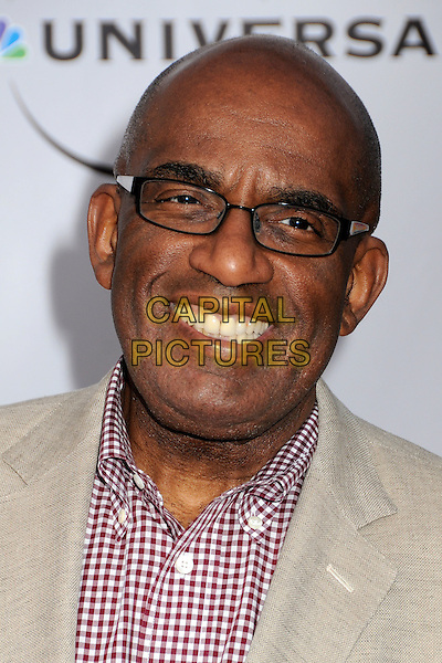 """AL ROKER.The Cable Show 2010 """"An Evening with NBC Universal"""" held at Universal Studios Hollywood, Universal City, California, USA..May 12th, 2010.headshot portrait glasses red white checked gingham check beige.CAP/ADM/BP.©Byron Purvis/AdMedia/Capital Pictures."""
