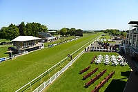 The course prior to racing during Afternoon Racing at Salisbury Racecourse on 17th May 2018