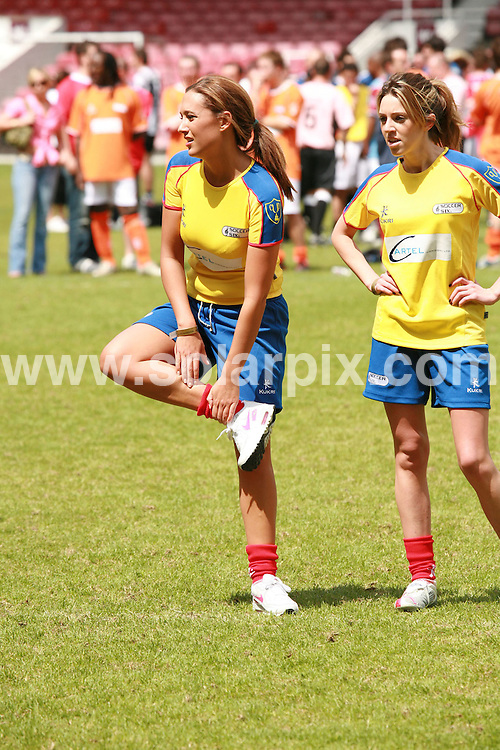 **ALL ROUND PICTURES FROM SOLARPIX.COM**.**WORLDWIDE SYNDICATION RIGHTS**.The Music Industry Soccer Six charity football with celebrity players such as Pete Doherty and Brian McFadden, Michelle Heaton, jade goody,Cassie Sumner,Bianca Gascoigne,Donnie Tourette .At the West Ham United Football Club, Bobby Moore Stand in London held on the Sunday 20_05_07..This pic:Cassie Sumner.JOB REF:3961-GMT        DATE:20_05_07.**MUST CREDIT SOLARPIX.COM OR DOUBLE FEE WILL BE CHARGED* *UNDER NO CIRCUMSTANCES IS THIS IMAGE TO BE REPRODUCED FOR ANY ONLINE EDITION WITHOUT PRIOR PERMISSION*