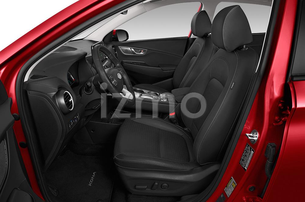 Front seat view of a 2019 Hyundai Kona EV Creative 5 Door SUV front seat car photos
